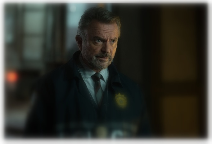 "Sam Neill as ""Captain Hawthorne"" in THE COMMUTER."