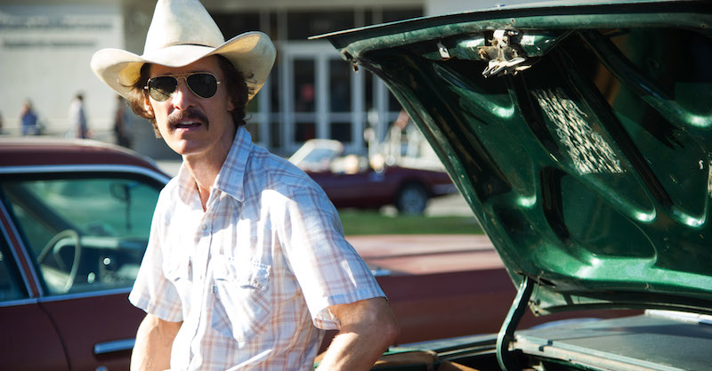 """This image released by Focus Features shows Matthew McConaughey as Ron Woodroof in a scene from the film, """"Dallas Buyers Club."""" The film was nominated for an Academy Award for best picture on Thursday, Jan. 16, 2014. The 86th Academy Awards will be held on March 2. (AP Photo/Focus Features, Anne Marie Fox)"""